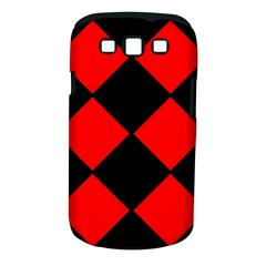 Red Black Square Pattern Samsung Galaxy S Iii Classic Hardshell Case (pc+silicone) by Nexatart