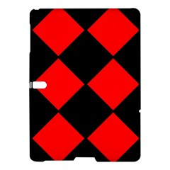 Red Black Square Pattern Samsung Galaxy Tab S (10 5 ) Hardshell Case  by Nexatart