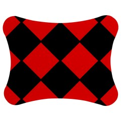 Red Black Square Pattern Jigsaw Puzzle Photo Stand (bow) by Nexatart