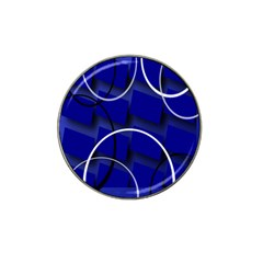 Blue Abstract Pattern Rings Abstract Hat Clip Ball Marker by Nexatart