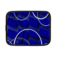 Blue Abstract Pattern Rings Abstract Netbook Case (small)  by Nexatart