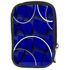 Blue Abstract Pattern Rings Abstract Compact Camera Cases