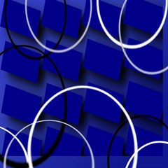 Blue Abstract Pattern Rings Abstract Magic Photo Cubes by Nexatart