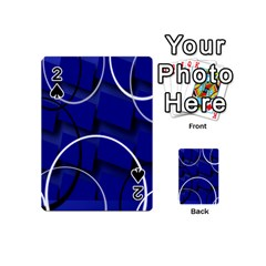 Blue Abstract Pattern Rings Abstract Playing Cards 54 (mini)  by Nexatart