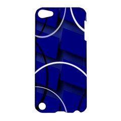 Blue Abstract Pattern Rings Abstract Apple Ipod Touch 5 Hardshell Case by Nexatart