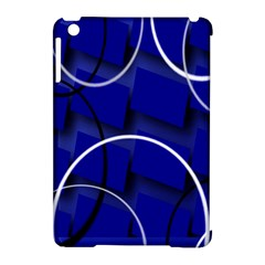 Blue Abstract Pattern Rings Abstract Apple Ipad Mini Hardshell Case (compatible With Smart Cover) by Nexatart