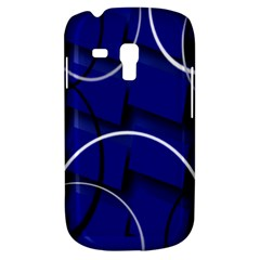 Blue Abstract Pattern Rings Abstract Galaxy S3 Mini by Nexatart