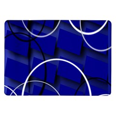 Blue Abstract Pattern Rings Abstract Samsung Galaxy Tab 10 1  P7500 Flip Case by Nexatart