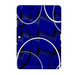 Blue Abstract Pattern Rings Abstract Samsung Galaxy Tab 2 (10 1 ) P5100 Hardshell Case  by Nexatart
