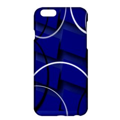 Blue Abstract Pattern Rings Abstract Apple Iphone 6 Plus/6s Plus Hardshell Case by Nexatart