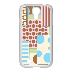 Part Background Image Samsung Galaxy S4 I9500/ I9505 Case (white)