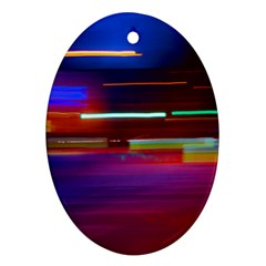 Abstract Background Pictures Oval Ornament (two Sides) by Nexatart