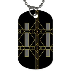 Simple Art Deco Style Art Pattern Dog Tag (two Sides)