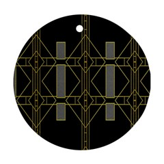 Simple Art Deco Style Art Pattern Round Ornament (two Sides) by Nexatart