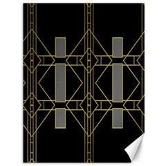 Simple Art Deco Style Art Pattern Canvas 36  X 48   by Nexatart