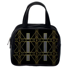 Simple Art Deco Style Art Pattern Classic Handbags (one Side) by Nexatart