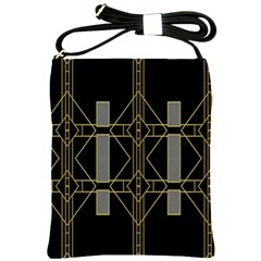 Simple Art Deco Style Art Pattern Shoulder Sling Bags by Nexatart