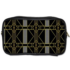 Simple Art Deco Style Art Pattern Toiletries Bags by Nexatart