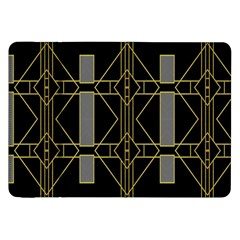 Simple Art Deco Style Art Pattern Samsung Galaxy Tab 8 9  P7300 Flip Case by Nexatart