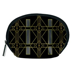 Simple Art Deco Style Art Pattern Accessory Pouches (medium)  by Nexatart