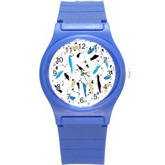 Abstract Image Image Of Multiple Colors Round Plastic Sport Watch (s) by Nexatart