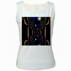 An Interesting Mix Of Blue And Other Colours Balls Women s White Tank Top by Nexatart
