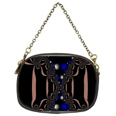 An Interesting Mix Of Blue And Other Colours Balls Chain Purses (one Side)