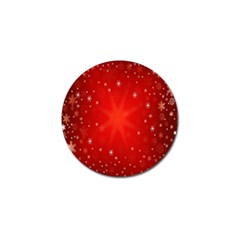 Red Holiday Background Red Abstract With Star Golf Ball Marker (4 Pack) by Nexatart