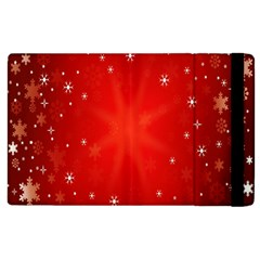 Red Holiday Background Red Abstract With Star Apple Ipad 2 Flip Case by Nexatart