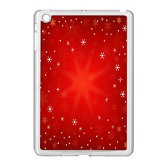 Red Holiday Background Red Abstract With Star Apple Ipad Mini Case (white) by Nexatart