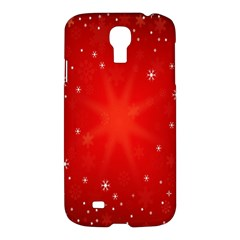 Red Holiday Background Red Abstract With Star Samsung Galaxy S4 I9500/i9505 Hardshell Case by Nexatart