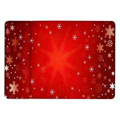 Red Holiday Background Red Abstract With Star Samsung Galaxy Tab 10 1  P7500 Flip Case by Nexatart