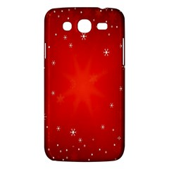 Red Holiday Background Red Abstract With Star Samsung Galaxy Mega 5 8 I9152 Hardshell Case  by Nexatart