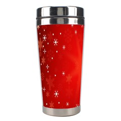 Red Holiday Background Red Abstract With Star Stainless Steel Travel Tumblers