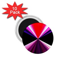 Red And Purple Triangles Abstract Pattern Background 1 75  Magnets (10 Pack)  by Nexatart