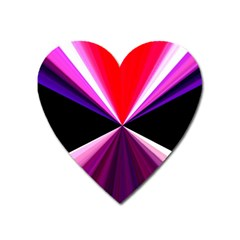 Red And Purple Triangles Abstract Pattern Background Heart Magnet by Nexatart