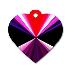 Red And Purple Triangles Abstract Pattern Background Dog Tag Heart (one Side)