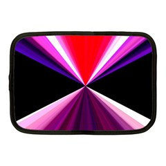 Red And Purple Triangles Abstract Pattern Background Netbook Case (medium)