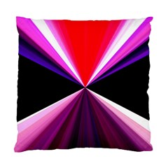 Red And Purple Triangles Abstract Pattern Background Standard Cushion Case (two Sides) by Nexatart