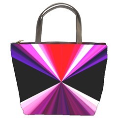 Red And Purple Triangles Abstract Pattern Background Bucket Bags by Nexatart