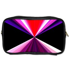 Red And Purple Triangles Abstract Pattern Background Toiletries Bags