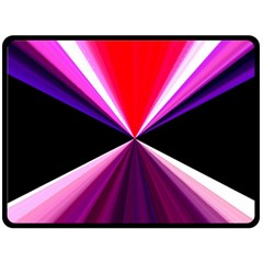 Red And Purple Triangles Abstract Pattern Background Fleece Blanket (large)  by Nexatart