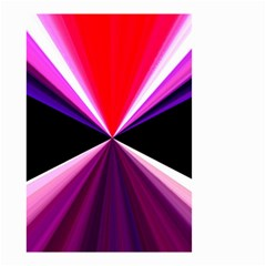 Red And Purple Triangles Abstract Pattern Background Small Garden Flag (two Sides) by Nexatart