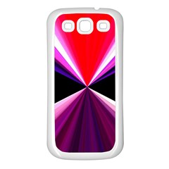 Red And Purple Triangles Abstract Pattern Background Samsung Galaxy S3 Back Case (white) by Nexatart