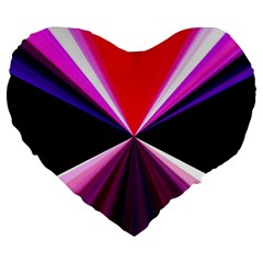 Red And Purple Triangles Abstract Pattern Background Large 19  Premium Flano Heart Shape Cushions by Nexatart