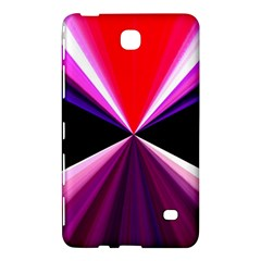 Red And Purple Triangles Abstract Pattern Background Samsung Galaxy Tab 4 (8 ) Hardshell Case  by Nexatart