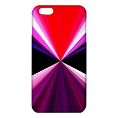 Red And Purple Triangles Abstract Pattern Background Iphone 6 Plus/6s Plus Tpu Case by Nexatart