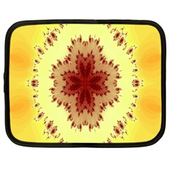 Yellow Digital Kaleidoskope Computer Graphic Netbook Case (large) by Nexatart