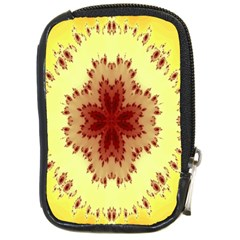 Yellow Digital Kaleidoskope Computer Graphic Compact Camera Cases by Nexatart