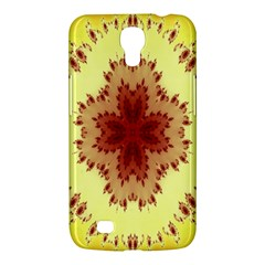 Yellow Digital Kaleidoskope Computer Graphic Samsung Galaxy Mega 6 3  I9200 Hardshell Case
